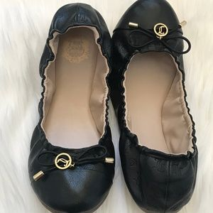 JUICY COUTURE Monogram Black Shoes Ballet flats